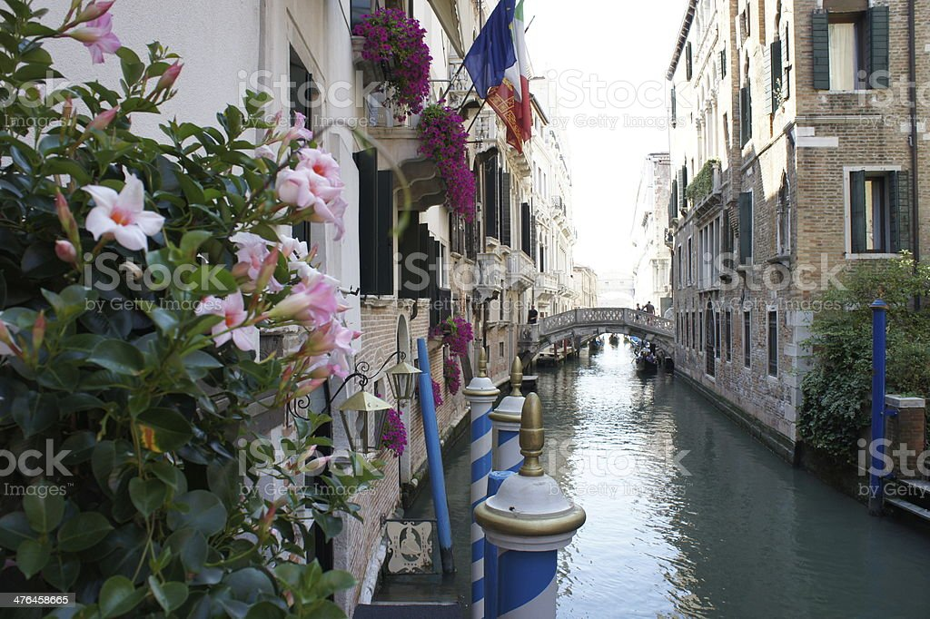 Canal and old bridge in Venice, Italy royalty-free stock photo