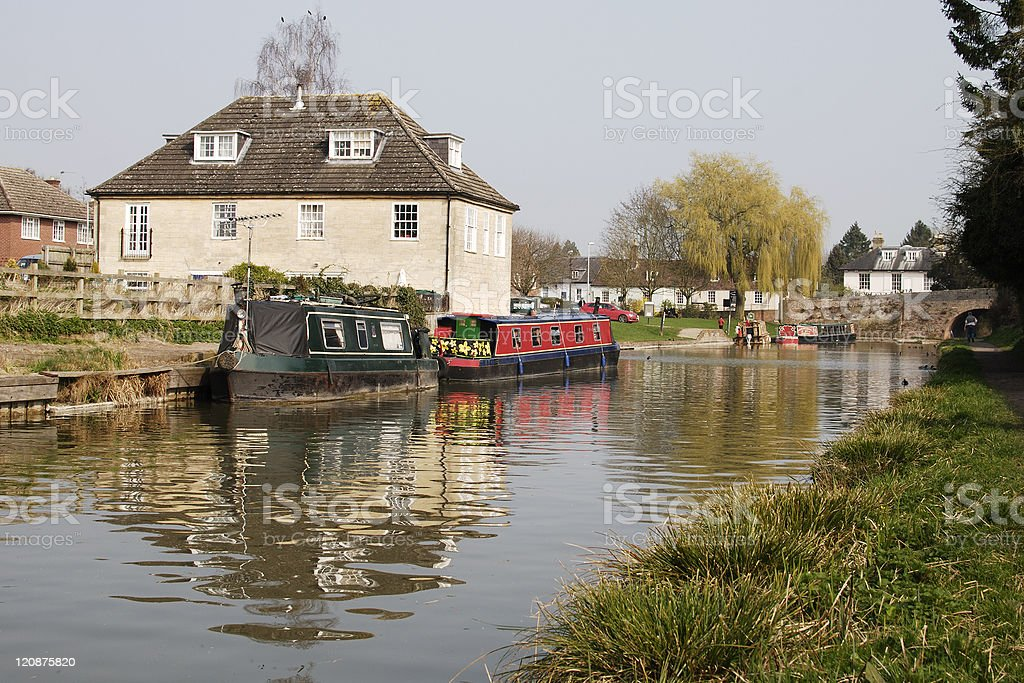 Canal at Hungerford. Berkshire. England royalty-free stock photo