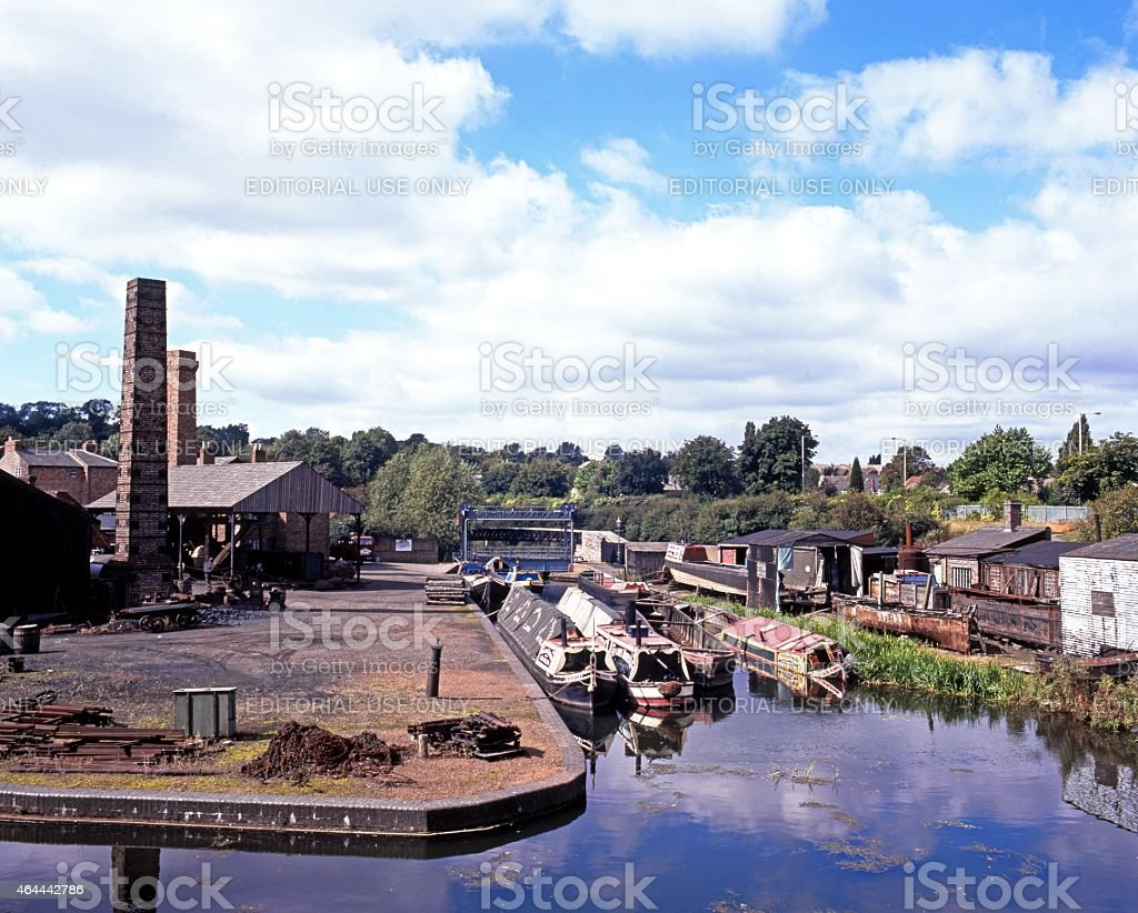 Canal basin and iron works, Dudley. stock photo