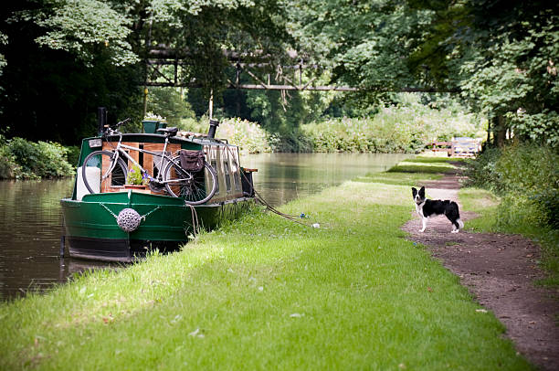 Canal Boat Life stock photo