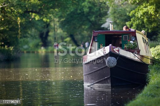 Narrow boat on canal.