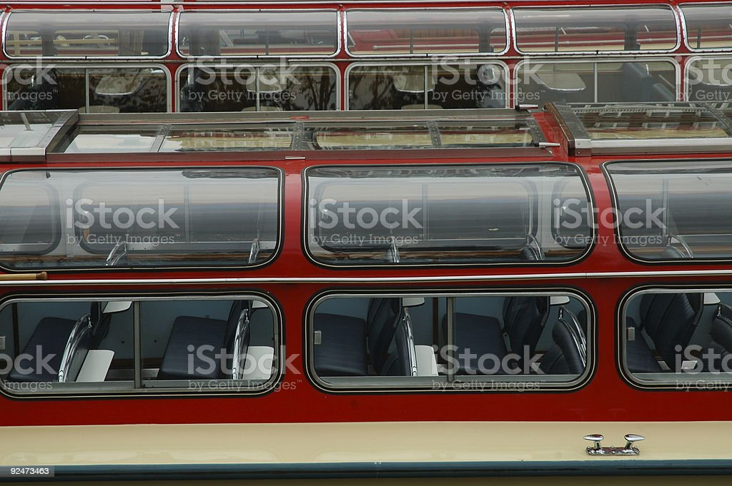 Canal boat royalty-free stock photo