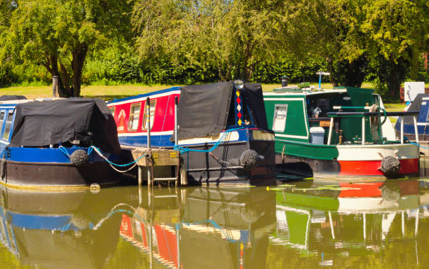 Canal Boats stock photo