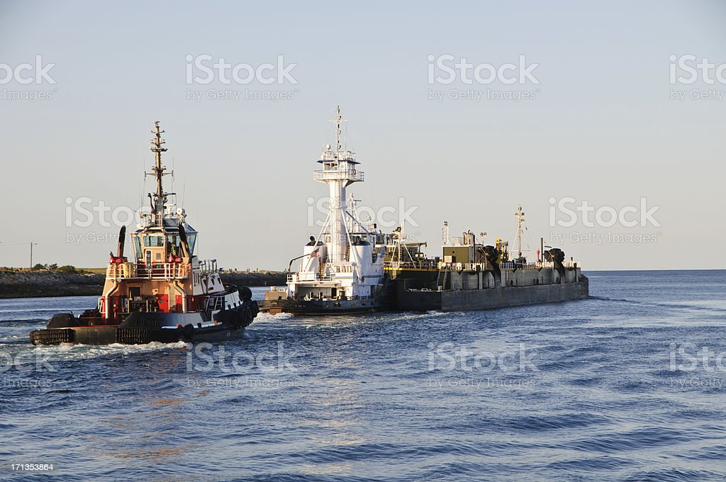 Canal Commerce stock photo