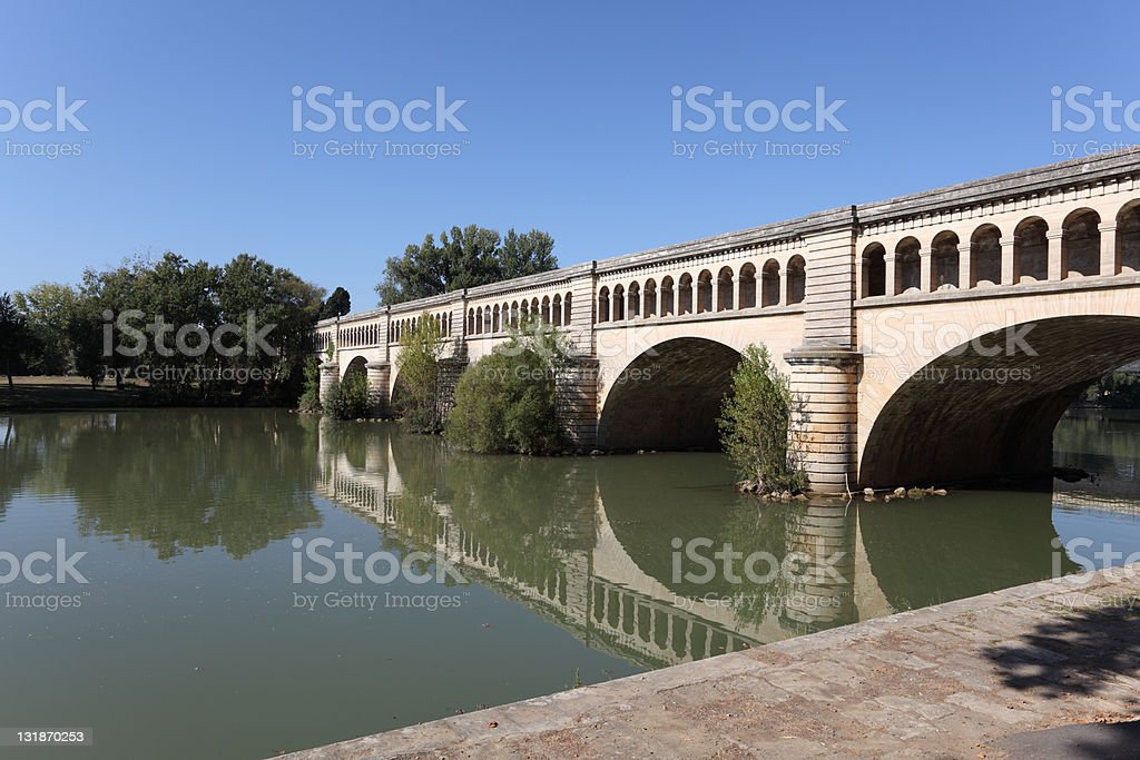 Canal du Midi in Beziers, France stock photo