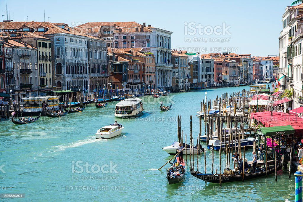 Canal Grande and gondolas royalty-free stock photo