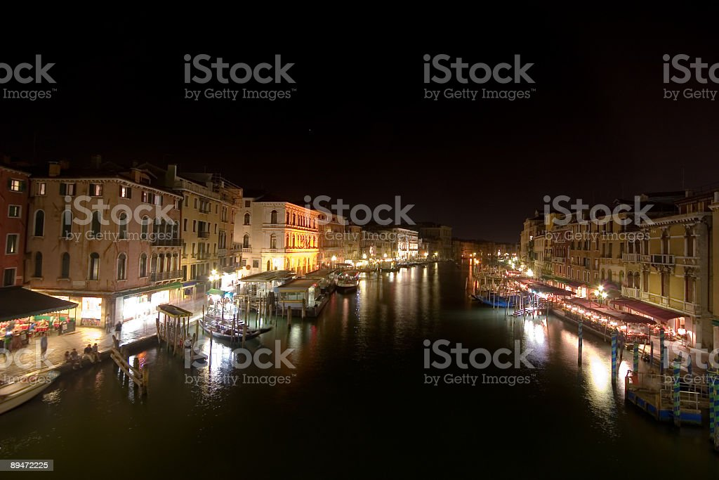 canal grande at night royalty-free stock photo