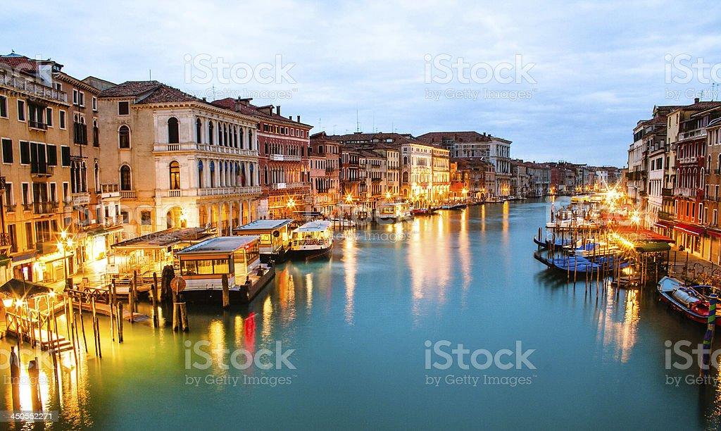 Canal Grande from Rialto Bridge royalty-free stock photo