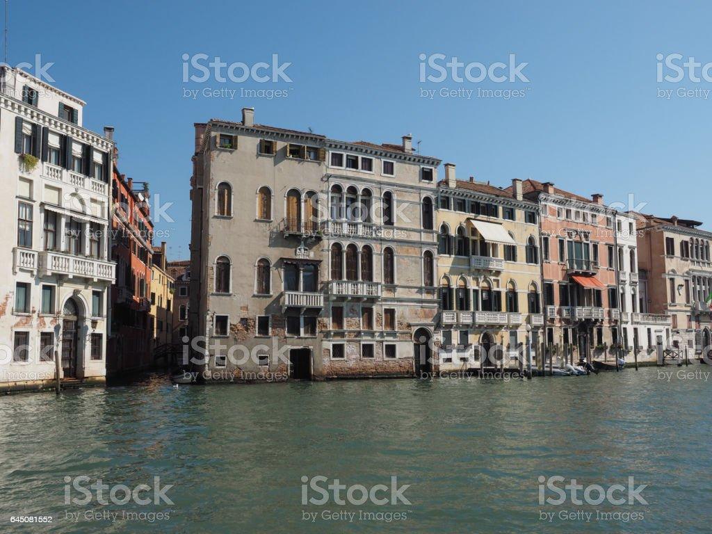 Canal Grande in Venice stock photo