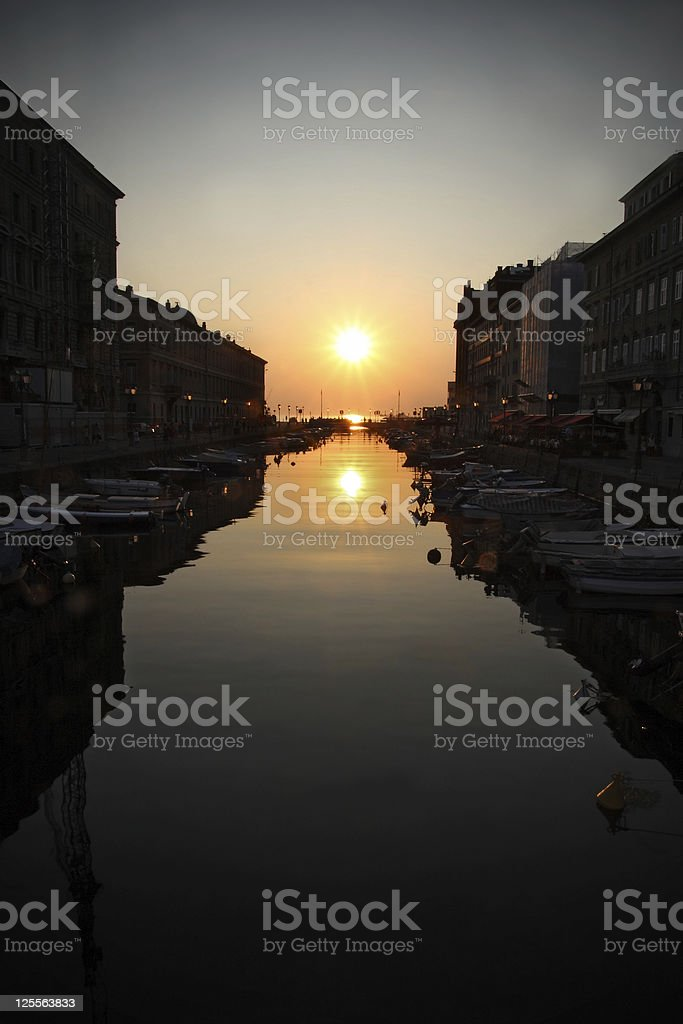 Canal Grande, Trieste royalty-free stock photo