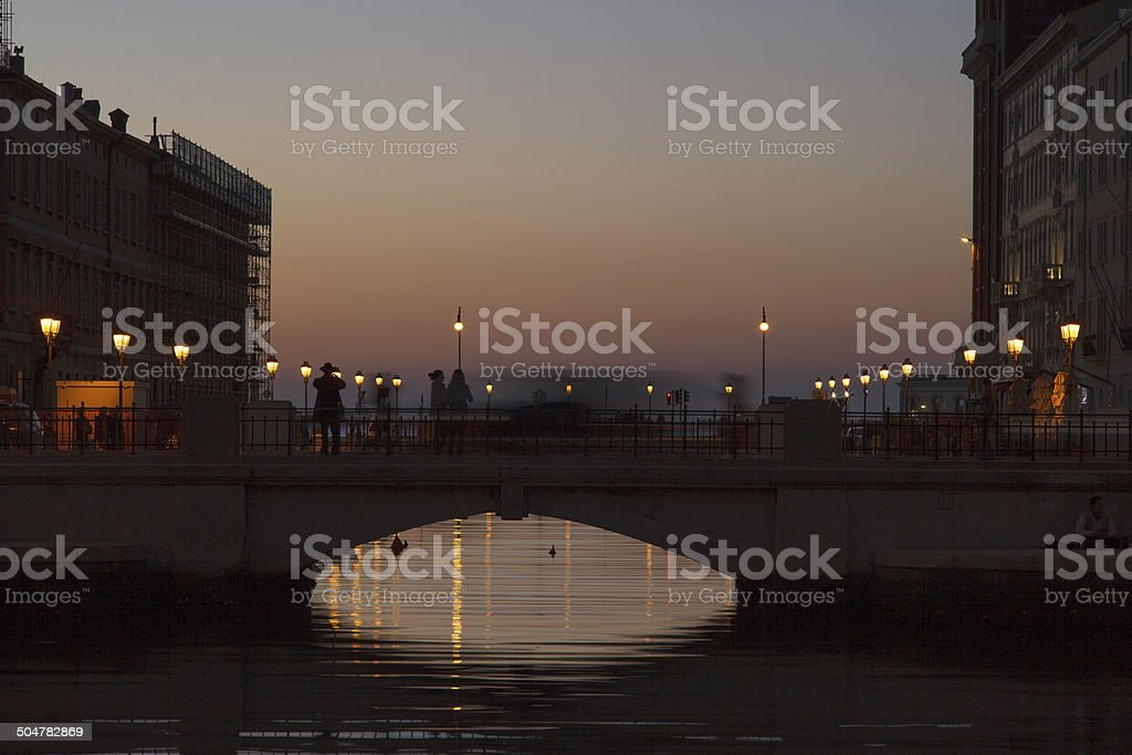 Canal Grande, Trieste stock photo