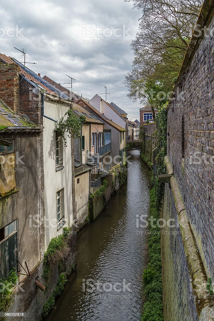 canal in Amiens, France - Photo