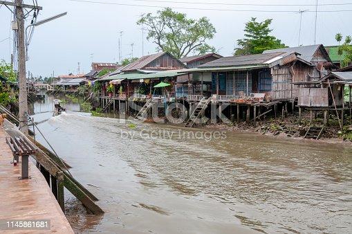 Canal In Amphawa, Samut Songkhram, Thailand