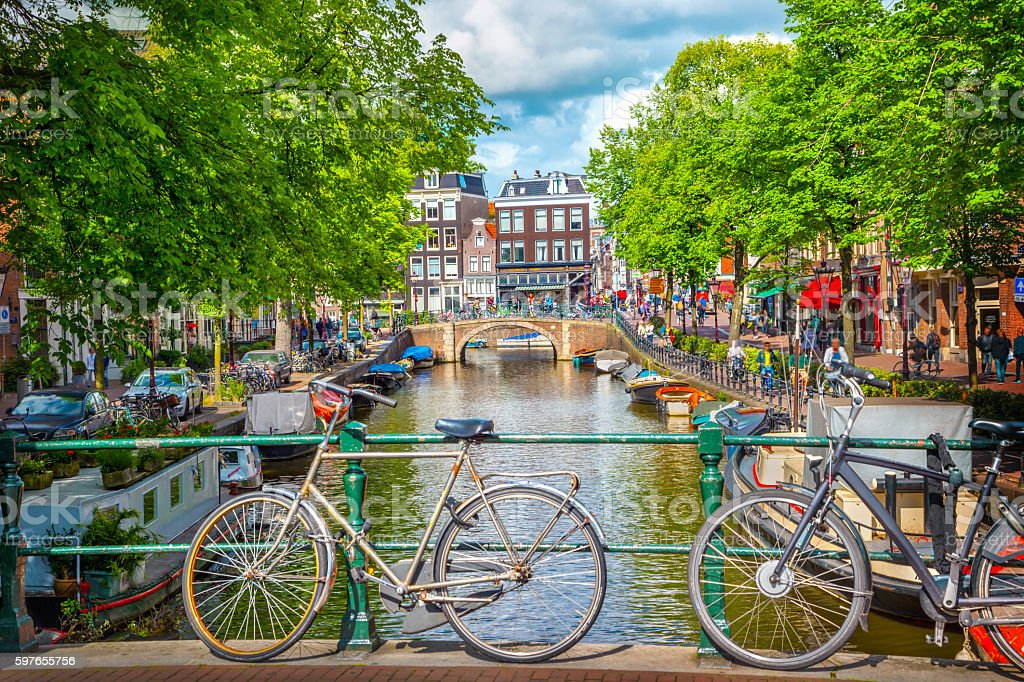 Canal in Amsterdam​​​ foto