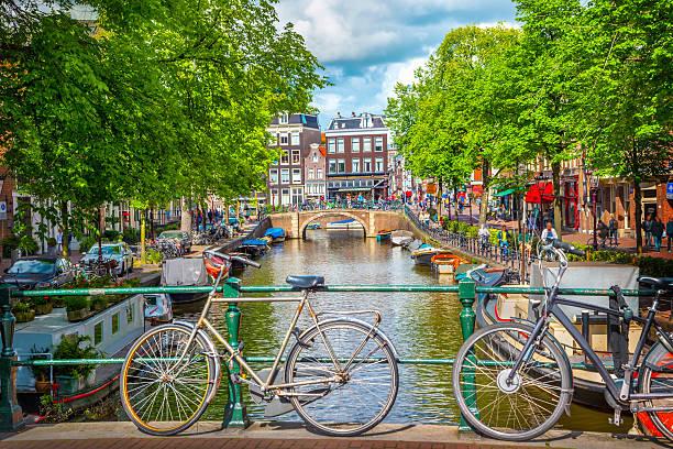 Canal de Ámsterdam - foto de stock