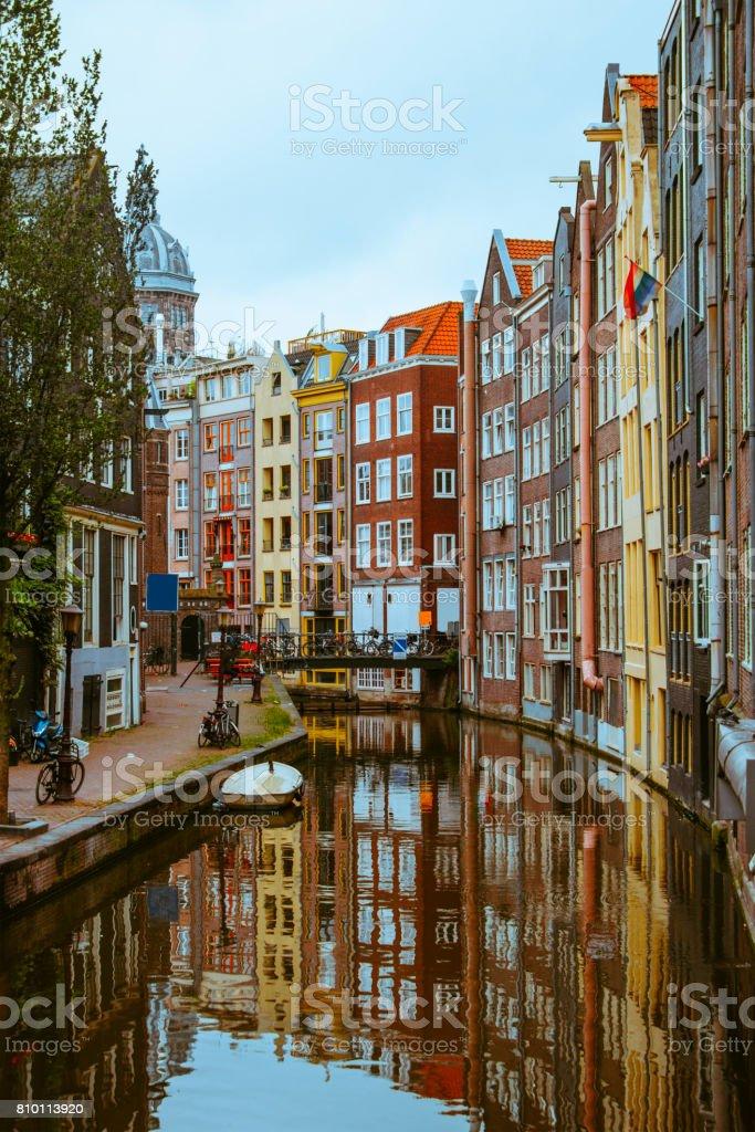 Canal in de centrale Amsterdam foto