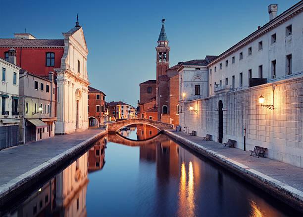 Canal in Chioggia stock photo