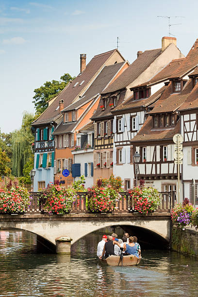 Canal in Colmar stock photo
