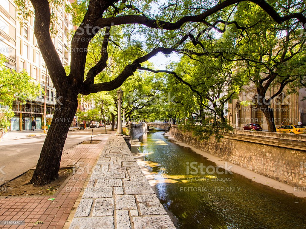 Canal in Cordoba, Argentina stock photo