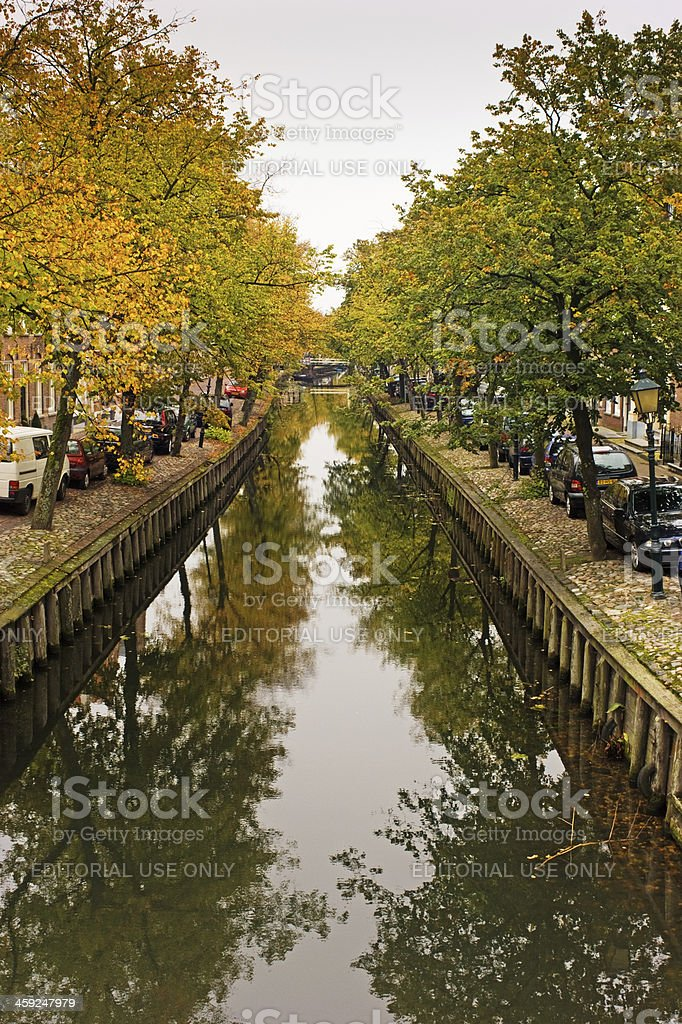 Canal  in Edam Netherlands royalty-free stock photo