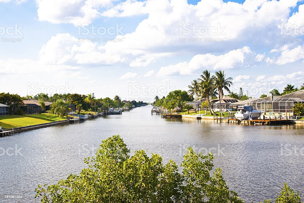 Canal in Florida royalty-free stock photo