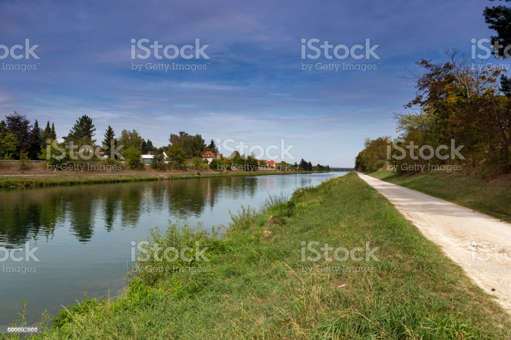 Canal in Frankonia stock photo