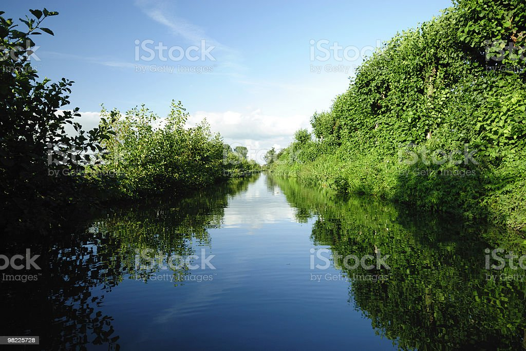 Canal in summer royalty-free stock photo