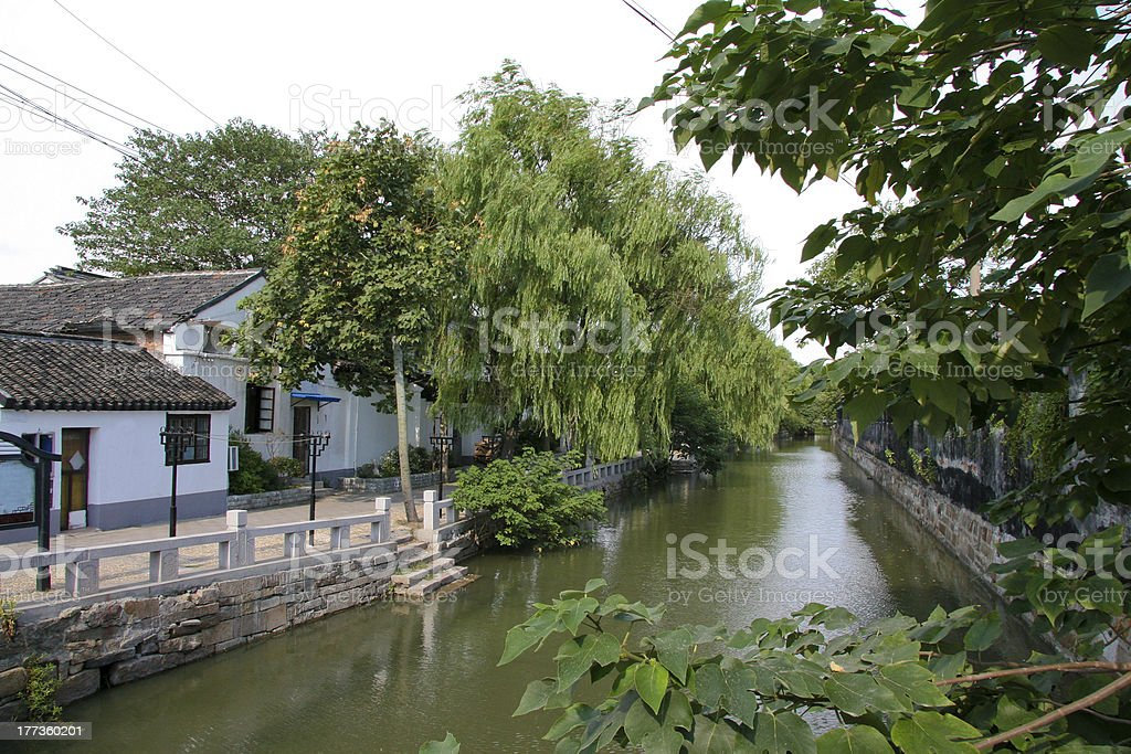 Canal in Suzhou stock photo