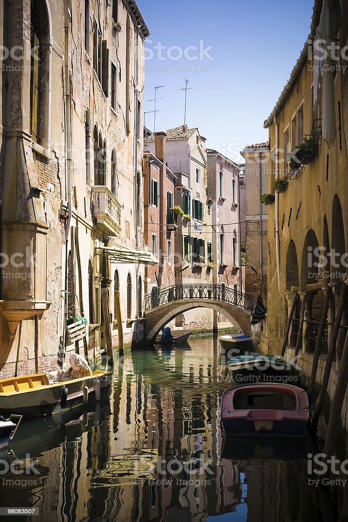 Canal in Venice royalty-free stock photo