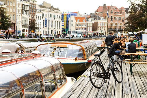 canal landscape in Amsterdam