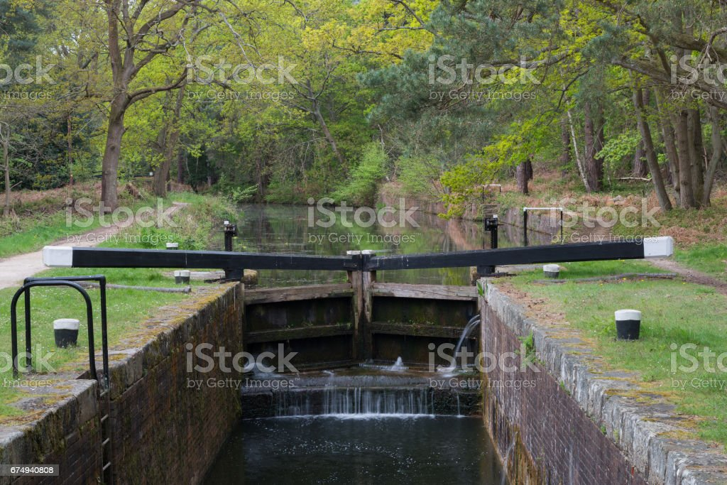 Canal Lock stock photo