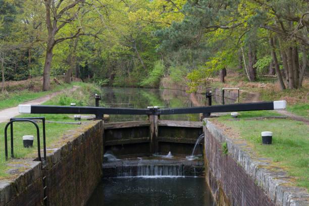 Canal Lock stock photo