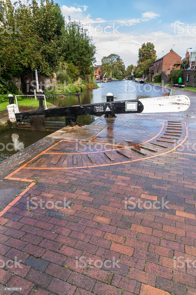 Canal lock, Stourport on Severn, the Staffordshire and Worcester stock photo