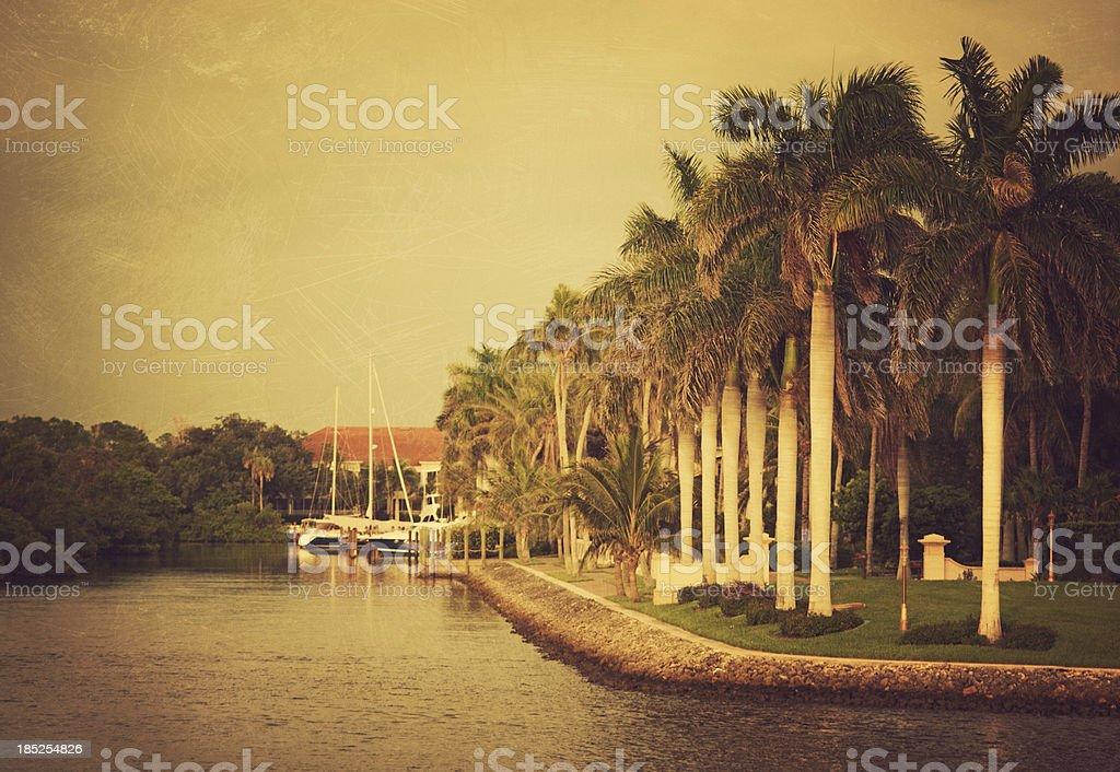 canal naples florida royalty-free stock photo