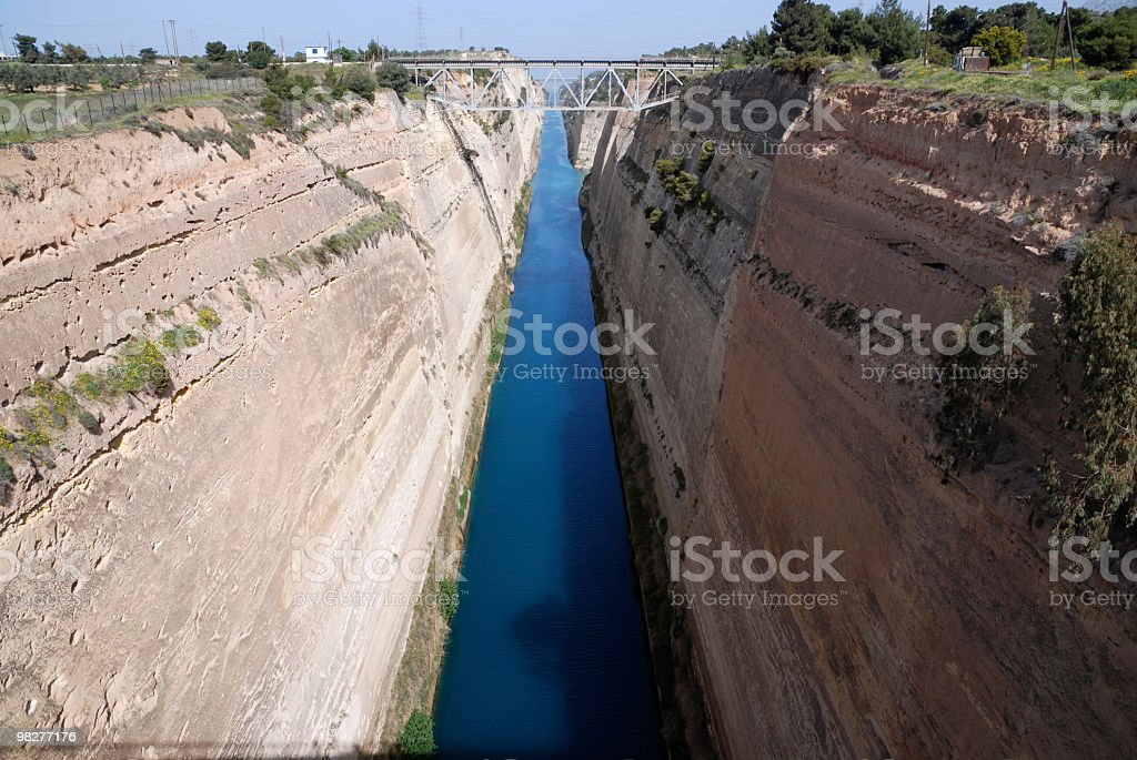 Canal of Corinth royalty-free stock photo