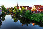 istock Canal of Otterndorf, Germany 841935544