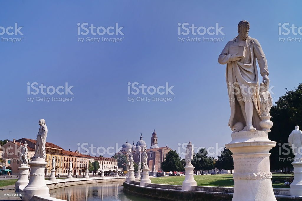 Canal of Prato della Valle square, Padua foto de stock royalty-free