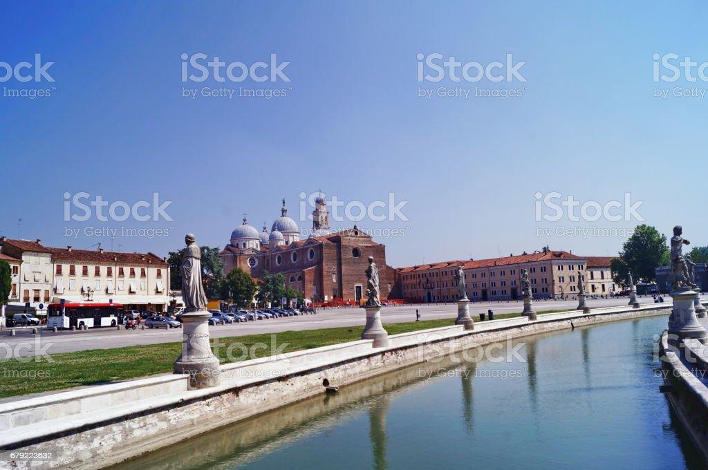 Canal of Prato della Valle square, Padua foto de stock royalty-free