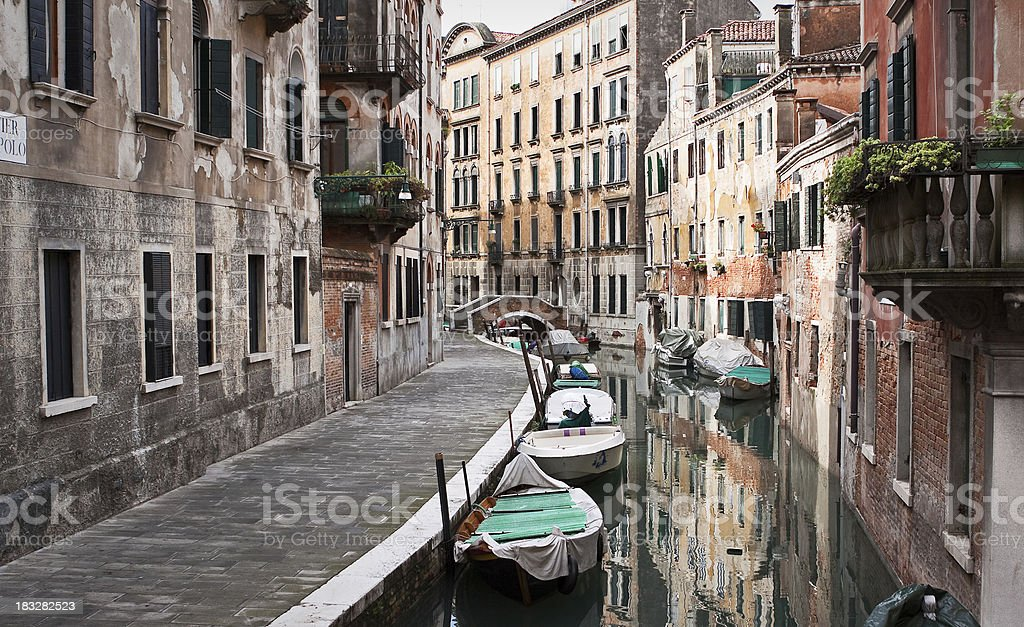 Canal of Venice royalty-free stock photo