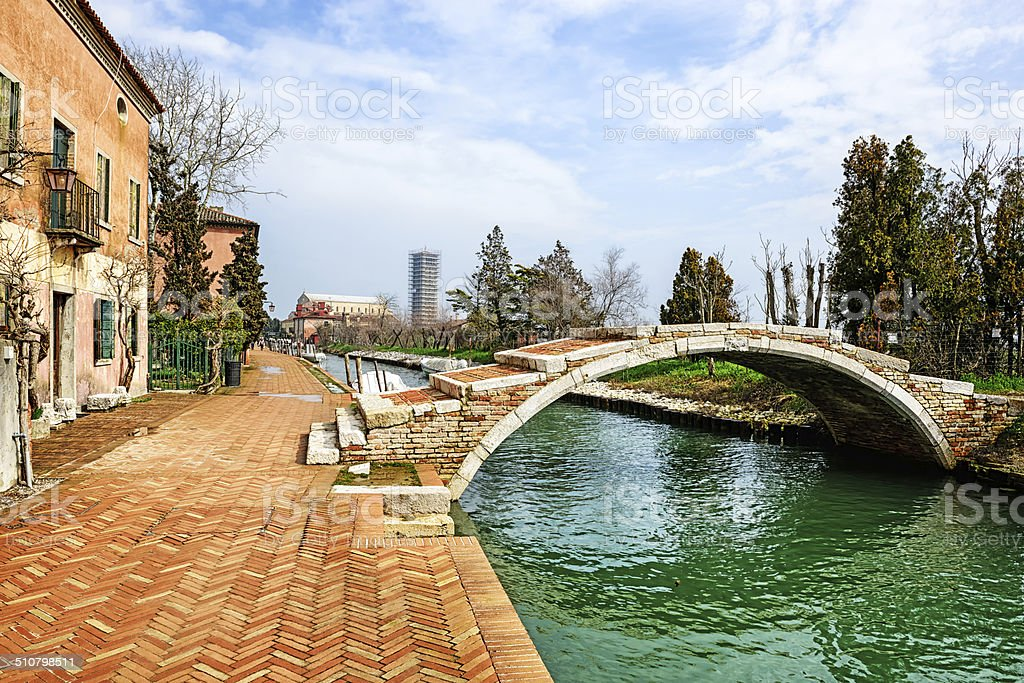 Canal on Torcello, Venice stock photo