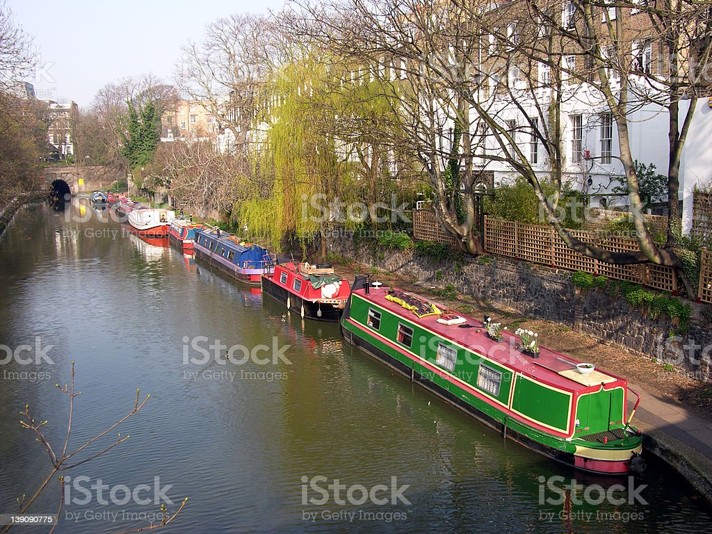 Canal overhead view royalty-free stock photo