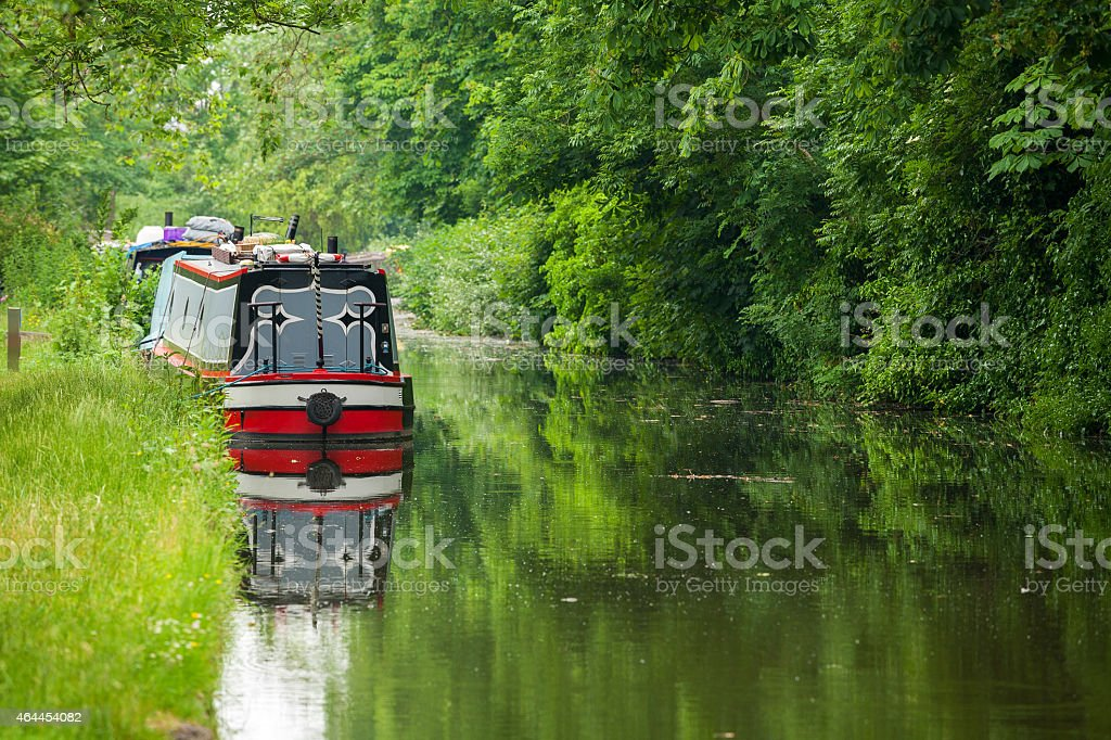 Canal. Oxford, England stock photo
