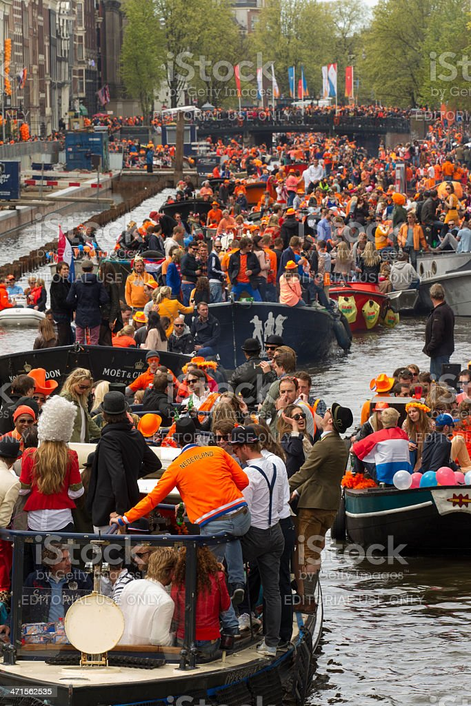 canal party royalty-free stock photo