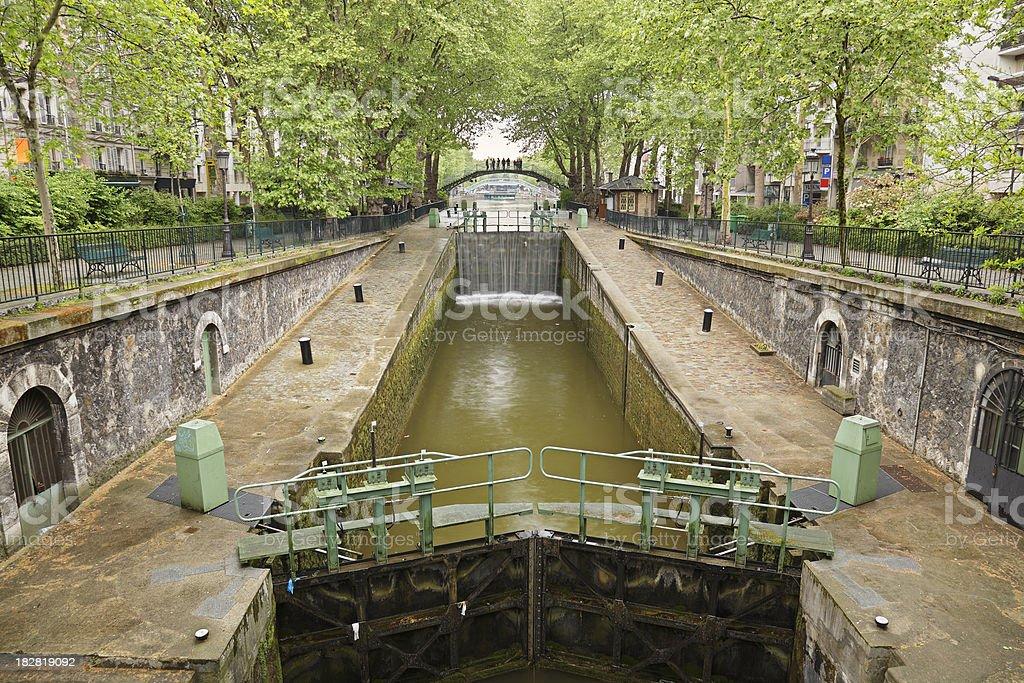 Canal Saint Martin royalty-free stock photo