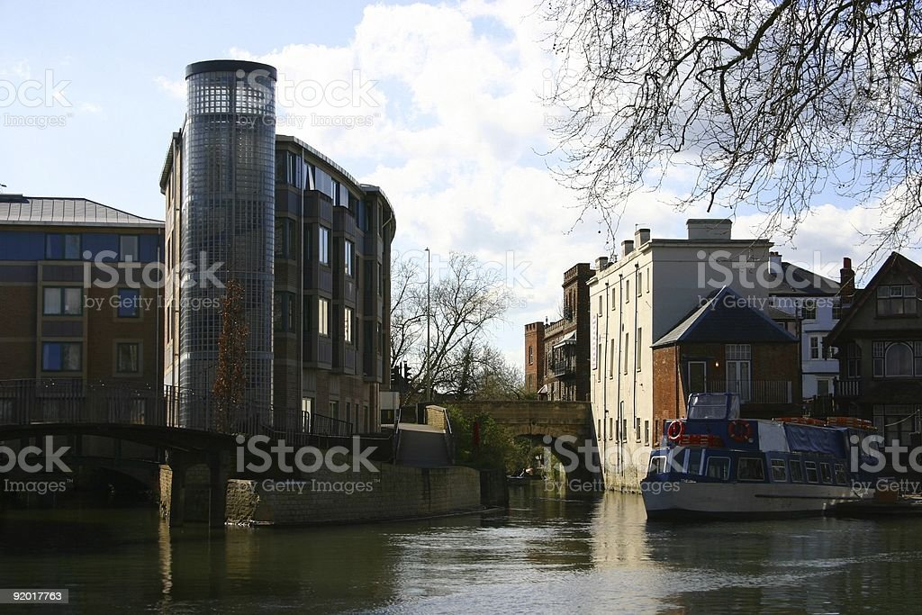 canal scenery -- Oxford, England royalty-free stock photo
