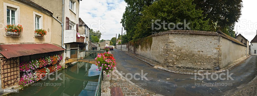 Canal street corner royalty-free stock photo