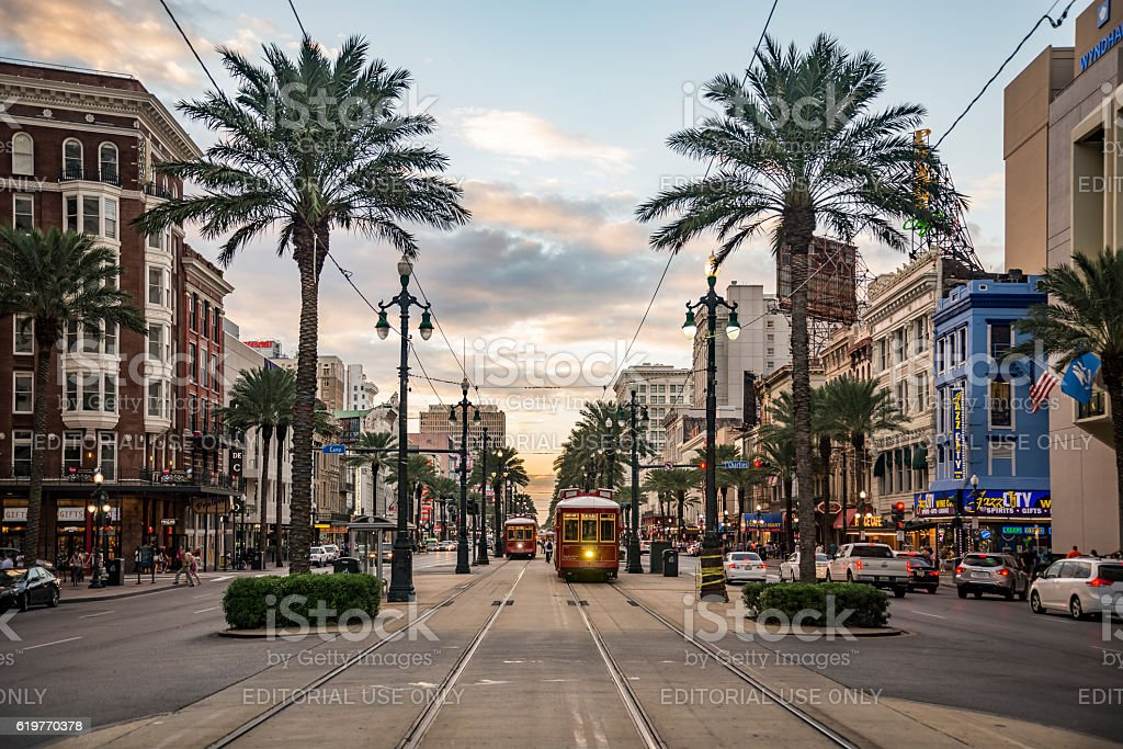 Canal Street in New Orleans stock photo
