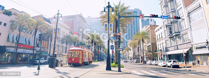 Canal street in New Orleans