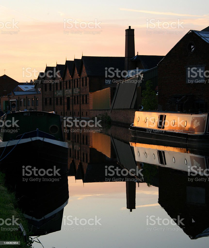 Canal Sunset stock photo