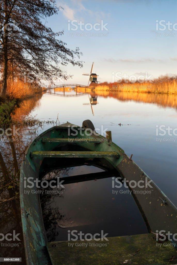 Canal the Ammersche boezem stock photo